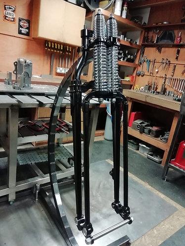 Springer Forks Black with Chrome Springs