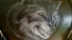 Handcarved wolf