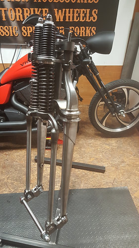 Custom Springer Forks in Raw Metal (In-line version)