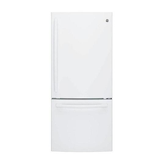 GE Réfrigérateur de 30 pouces W 20,9 pieds cubes à congélateur inférieur en blanc - ENERGY STAR  1 195,00 $