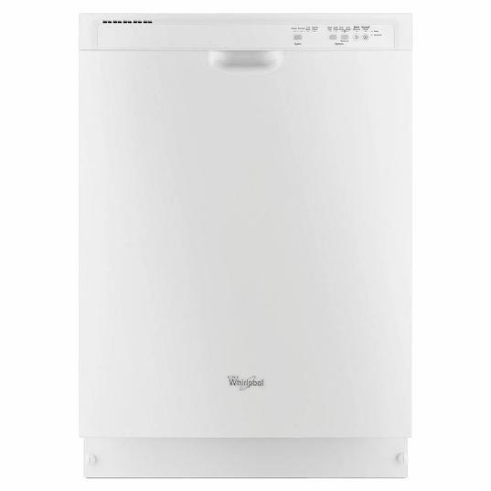 Whirlpool Lave-vaisselle à cuve haute encastrée à commande frontale en blanc, 55 dBA - ENERGY STAR  475,00 $