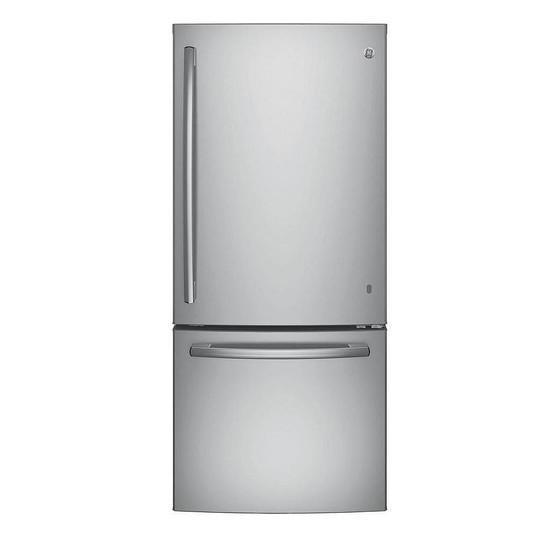 GE Réfrigérateur à congélateur inférieur avec FrostGuard, 30 po, 20,6 pi3, acier inoxydable - ENERGY STAR®  1 345,00 $