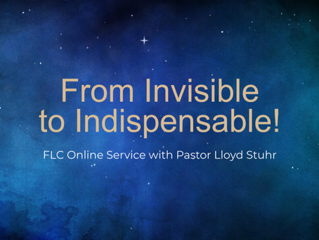 From Invisible to Indispensable!