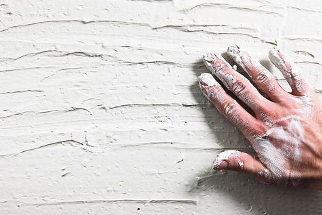 Worker Hand Stucco Plaster Wall Building