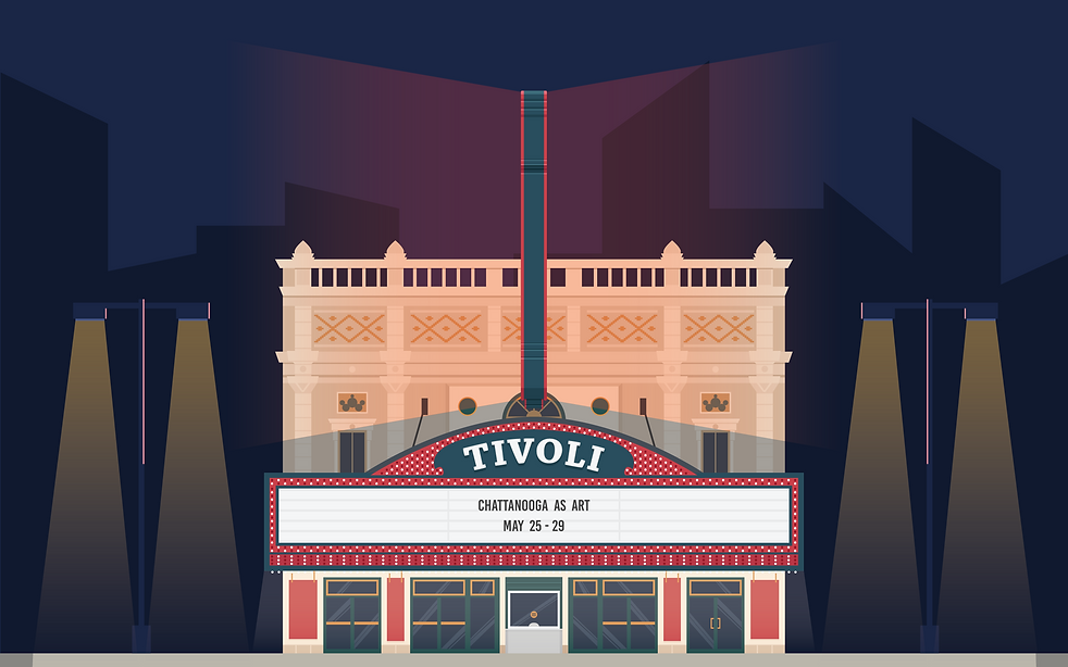 Chattanooga Tivoli Theatre Illustration