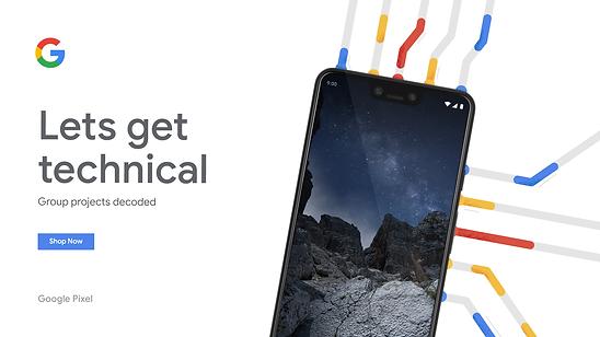 Mock Google Pixel Web Ad