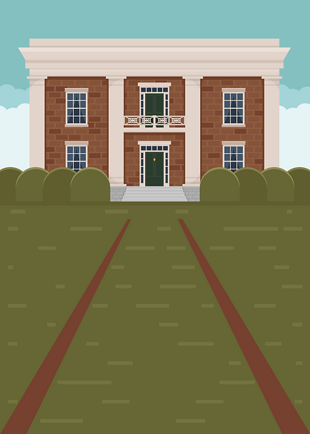 Gordon Lee Mansion Illustration