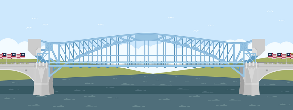 Market Street Bridge Illustration