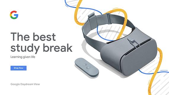 Mock Google Daydream Web Ad
