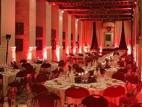 Location de vaisselle pour un dîner au château de Brissac