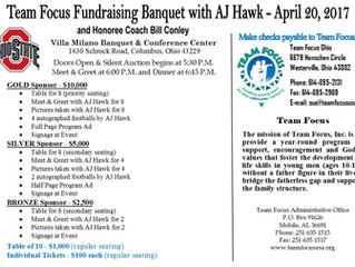 Team Focus Fundraising Banquet with AJ Hawk