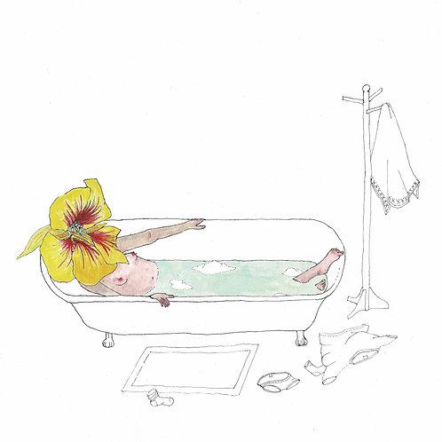 PRINT: Bathing Nasturtium