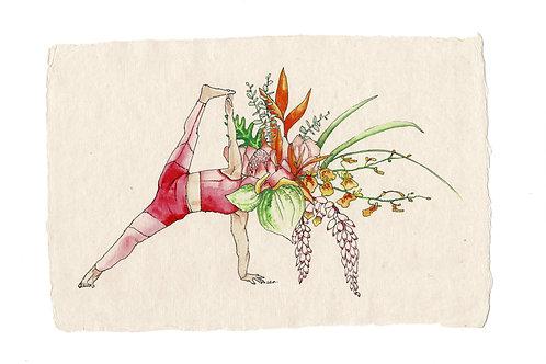PRINT: Flowerhead Yogi