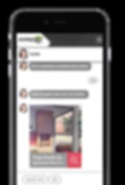 smartphone com chatbox