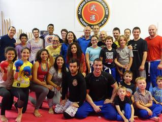 Entraînements des Brésiliens à l'Académie