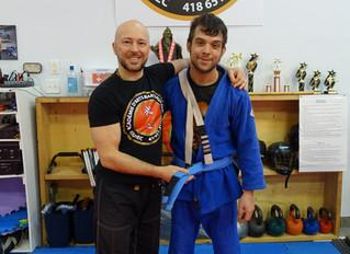 Nouvelle ceinture bleue en Bjj à l'Académie