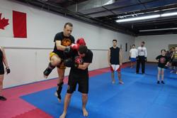 Coup de genou Boxe Muay Thai