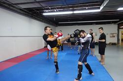 Pied circulaire du Kick Boxing