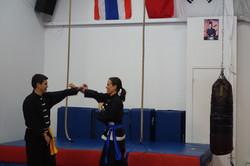 Julie et Rodolphe à l'entraînement.