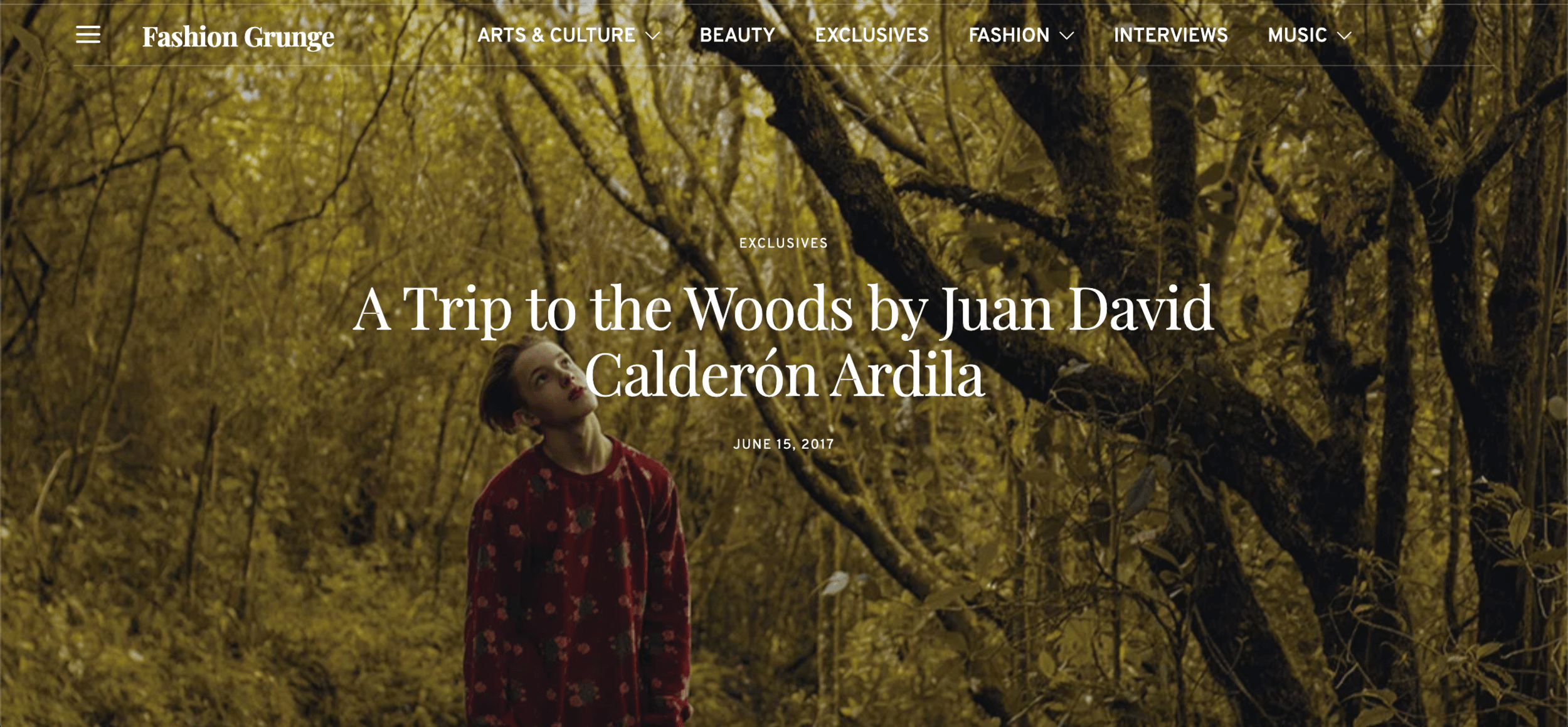 A trip to the woods for Fashion Grunge