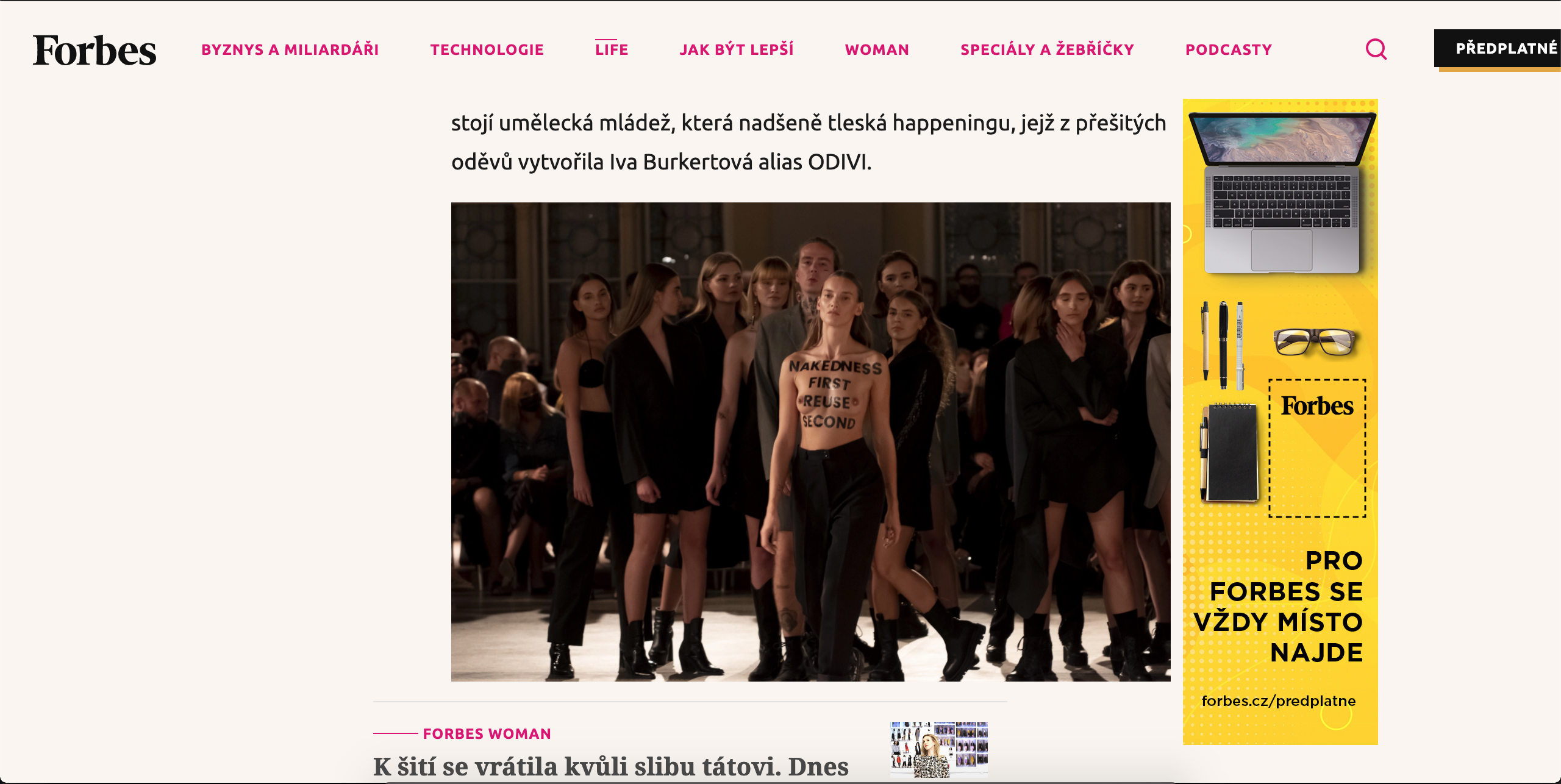 Mercedes Benz Fashion Week Prague, published in Forbes Cz