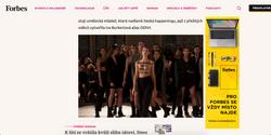 Mercedes Benz Fashion Week Prague, published in Forbes Cz