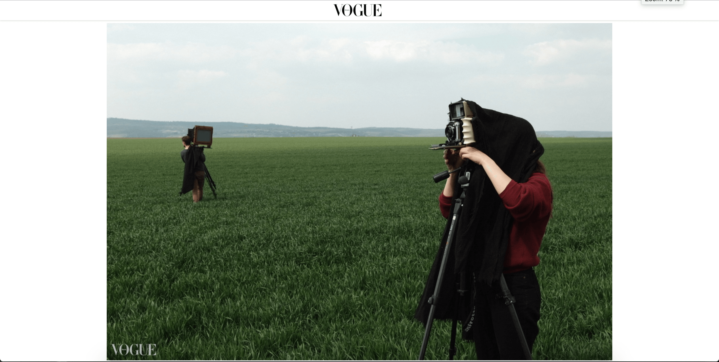 Cameraman on Photo Vogue Italy
