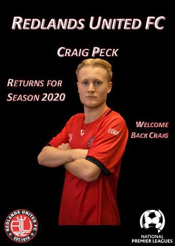 Media Release:   Craig Peck Returns to Red Devils