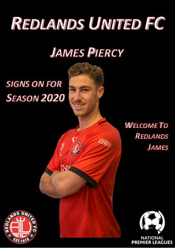 Media Release:   James Piercy signs for NPL with Red Devils