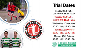 2019 Season Trial Dates