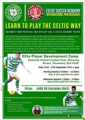Celtic Soccer Academy 2019