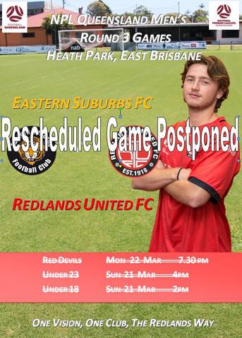 Rescheduled NPL Clash also Postponed
