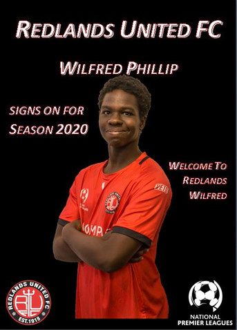 Media Release:   Wilfred Phillip Signs for Red Devils