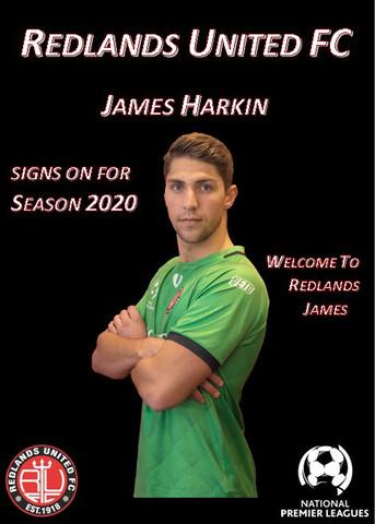 Media Release:   James Harkin Signs for Red Devils