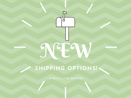 New Shipping Options!