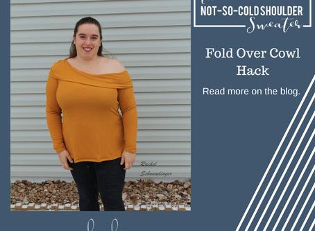 Not So Cold Shoulder Hack - Fold Over Cowl