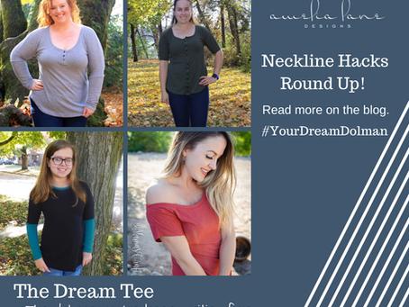 Dream Tee Neckline Hacks Day #1