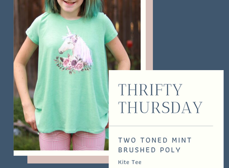 Thrifty Thursday- The Kite Tee in Two-Tone Mint DBP