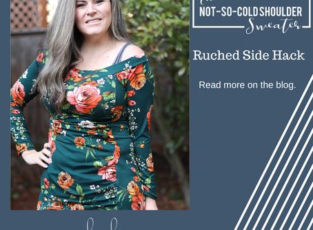 Not So Cold Shoulder Hack - Ruched Side