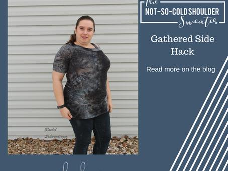 Not So Cold Shoulder Hack - Gathered Side