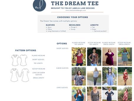 Dream Tee Pattern Round Up