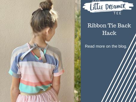 Ribbon Tie Back Hack