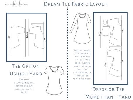 Dream Tee Fabric Layout