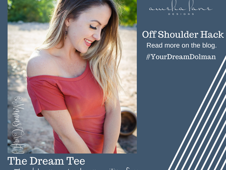 Off Shoulder Dream Tee Hack