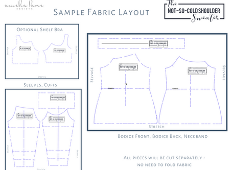 Not So Cold Shoulder - Fabric Layout