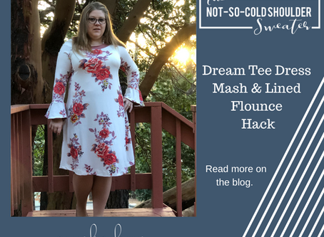 Not So Cold Shoulder Hack - Dress and Lined Flounce