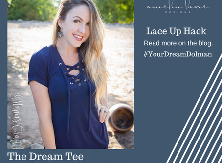 Dream Tee Lace Up Hack