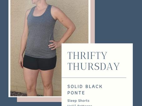 Thrifty Thursday: Black Ponte Sleep Shorts