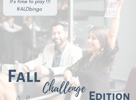 #ALDbingo Fall Challenge Edition