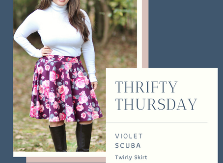 Thrifty Thursday featuring Violet Scuba knit